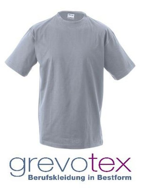 "James+Nicholson T-Shirt ""Round-T Heavy"" grau Gr. XL"